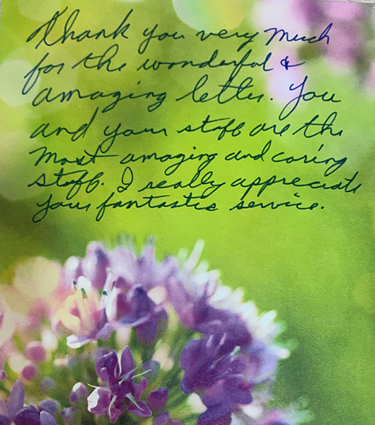 Thank You Notes From Our Patients image 2