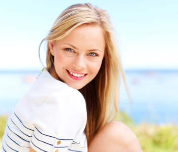 Dr Gerald N. Bock, MD California Skin & Laser Center Smiling Woman on Out side