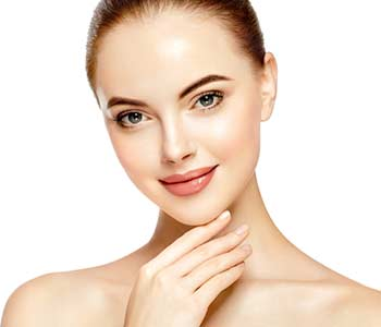 Young lady with clear & clean skin